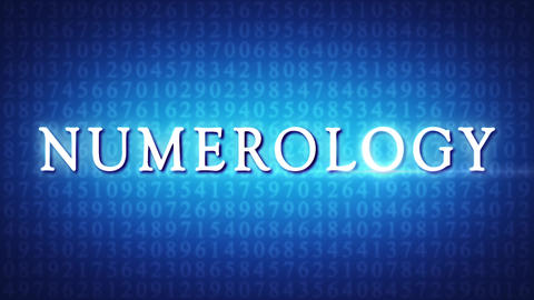 Numerology (secret knowledge about the numbers). Intro template. Glow title. 3D animation Animation