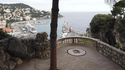 Nice Lympia Port From The Balcony Of The Castle Hill GIF
