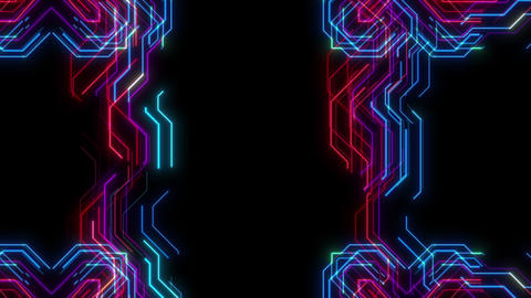 Abstract VJ Style Visual Of Colorful Animated Lines Seamlessly Looping Animation