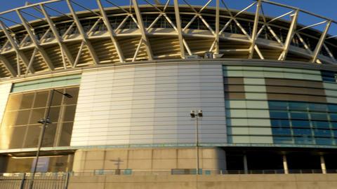 modern architecture Wembley Stadium London - LONDON, ENGLAND - DECEMBER 10, 2019 Live Action