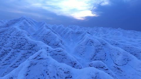 Blue mountains. Light blue background. Valley landscape.. Mountain landscape Live Action