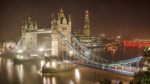 Time Lapse of the Tower Bridge in London Footage