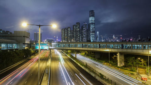 Hong Kong Freeway Time Lapse Footage