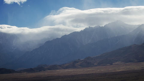 Time Lapse Mountain Clouds Footage