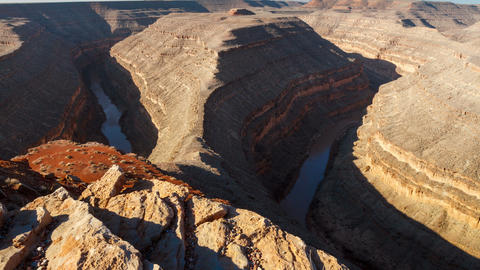 Goosenecks State Park Canyon River Time Lapse Footage