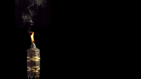 Tiki Torch Slow Motion Live Action