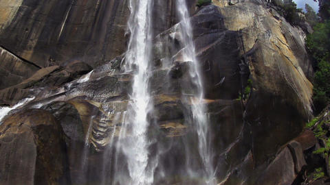 Yosemite Vernal Falls Slow Motion Footage