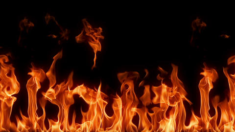 Seemless and Loopable Flames Slow Motion Footage
