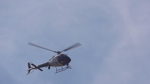 Police Helicopter Slow Motion Footage