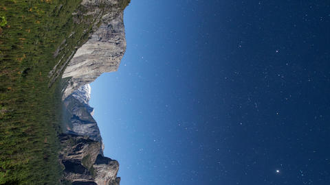 Yosemite Stars Time Lapse Vertical Live Action