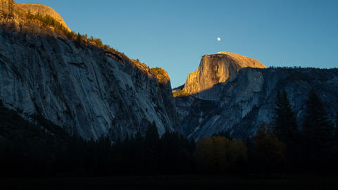 Yosemite Valley Sunset Time Lapse Footage