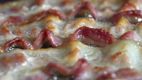 Bacon Frying Macro Dolly Footage