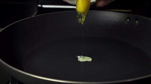 Egg Being Fried Slow Motion Footage