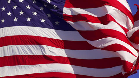 American Flag Slow Motion Footage