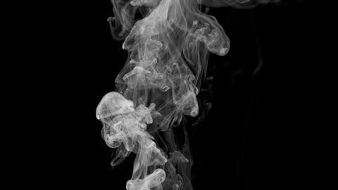 Smoke Element On Black Footage