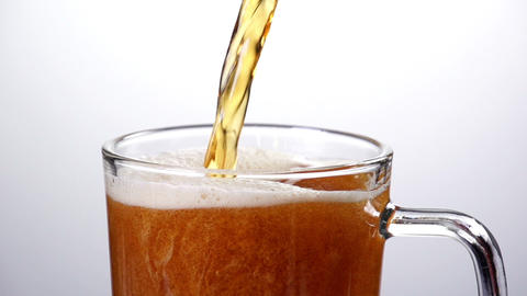 Beer Pouring Slow Motion Footage