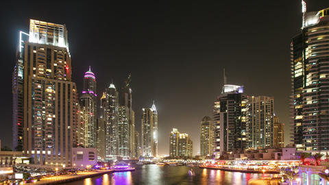 Time Lapse Marina Area Of Dubai Footage