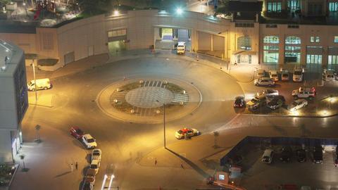 Traffic Roundabout Dubai Footage