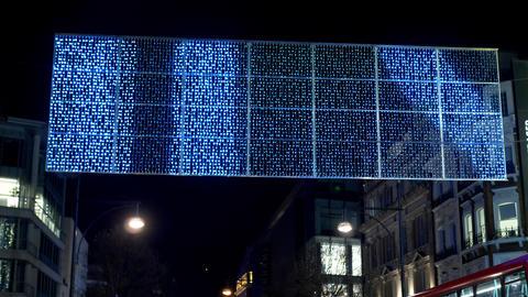 impressive Christmas lights at Oxford Street London - LONDON, ENGLAND - DECEMBER Live Action
