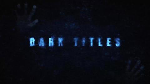 Dark Titles Motion Graphics Template