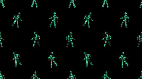 Dotted Figures Dancing Animation Animation