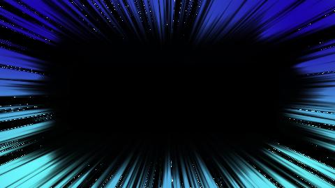 線が短い集中線 アルファ付 2色 青 水色 CG動画
