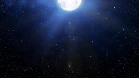 Mov196 moon night sky loop 01 CG動画