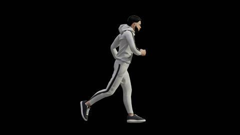 Man Jogging GIF