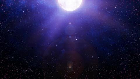 Mov196 moon night sky loop 02 Animation