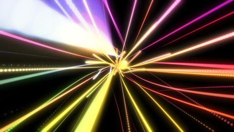 Colorful energy lines flying towards camera Animation