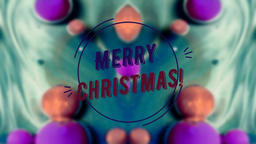 Merry Christmas text on blurred abstract background Live Action