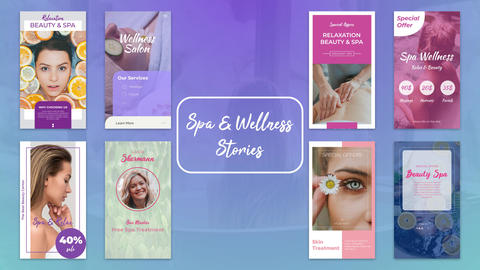 Spa & Wellness Stories After Effects Template