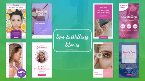 Spa & Wellness Stories Plantillas de Motion Graphics