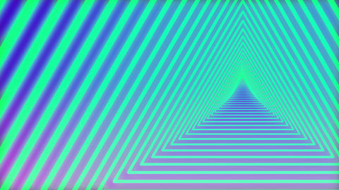 A travel through Triangle neon tunnel 4 Live影片