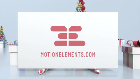 Abstract Christmas Logo After Effects Template