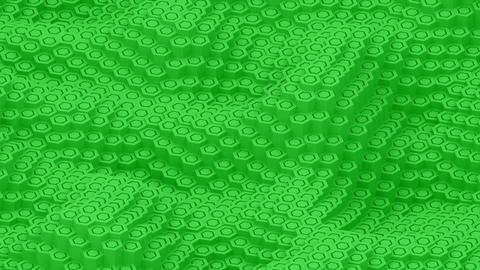 Hexagon moving surface green pillars animation background Animation