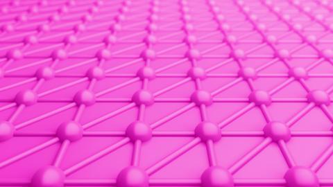 Atomic structure molecular geometric moving purple surface Animation