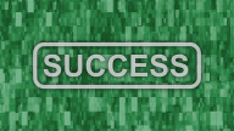 Success message pixel computer screen animation Animation