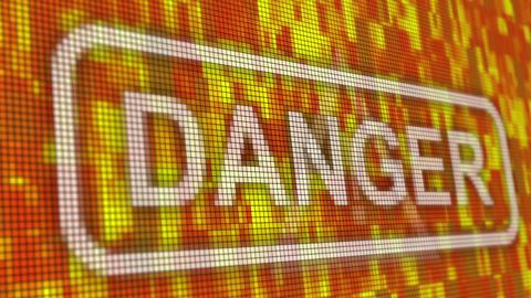 Danger message pixel computer screen animation Animation