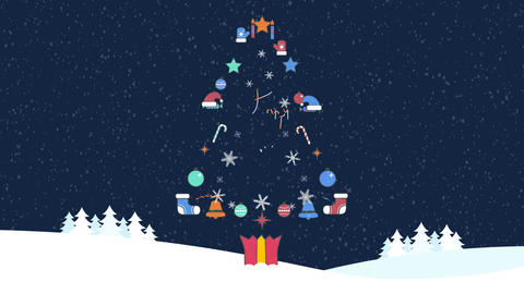 Chrismas Tree Logo After Effects Template