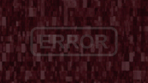 Error message pixel screen animation Animation