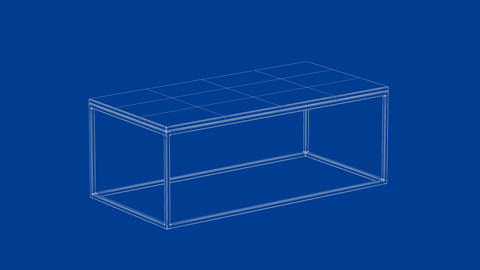 3d model of coffee table Animation