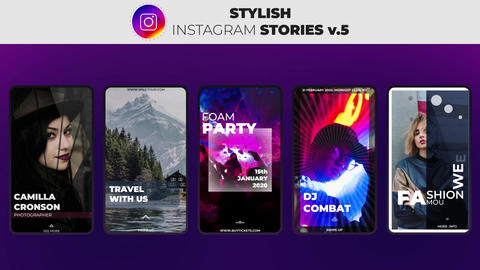 Stylish Instagram Stories v 5 After Effects Template