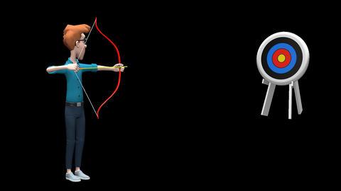Archery Shoot Animation Stock Video Footage