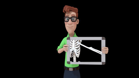 Cartoon X-ray Man Animation