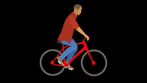 Vector Man Cycling GIF
