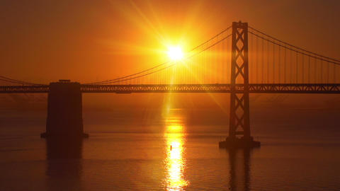 San Francisco Bay Bridge Sunrise Footage