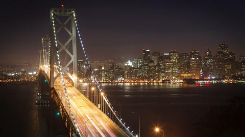 Bay Bridge San Francisco Time Lapse Footage