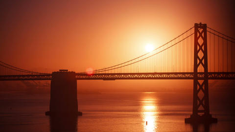 San Francisco Sunrise Bay Bridge Time Lapse Footage