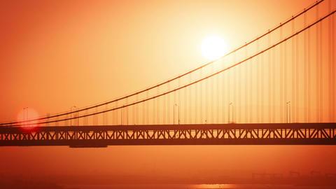 San Francisco Sunrise Bay Bridge Time Lapse Footage